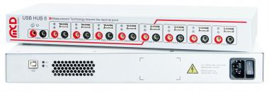 USB-Hub 8-fach mit 8-fach Relais MUX Komplettgerät