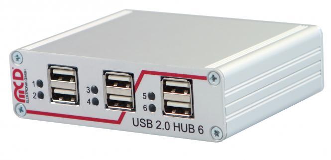 USB-Hub 6-fach, schaltbar