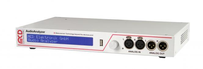 AudioAnalyzer 1HE Einheit analog und digital