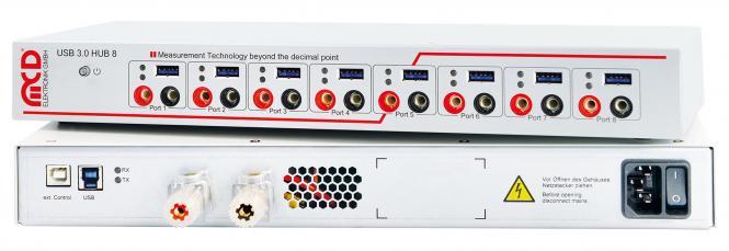 USB-Hub 3.0, 8-Port mit 8-fach Relais MUX 5A Komplettgerät